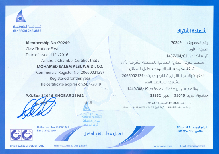 Chamber of Commerce Registration SFS 24.04.2019